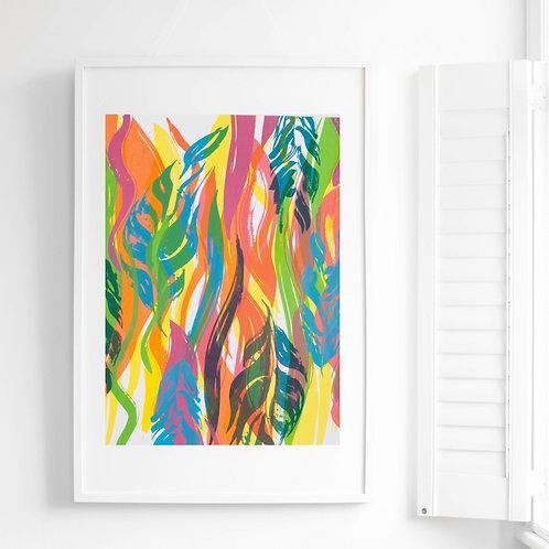3. Flowing Leaves Screen Print