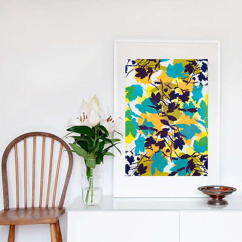 4. Bright Yellow and Midnight Blue 76 x 56 cm
