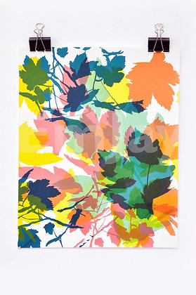 Green & Orange Leaves 6