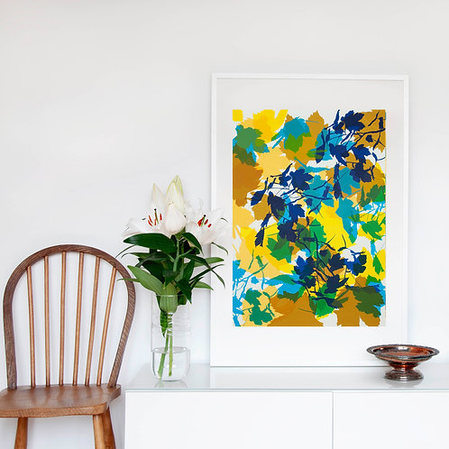 3. Bright Yellow and Midnight Blue 76 x 56 cm