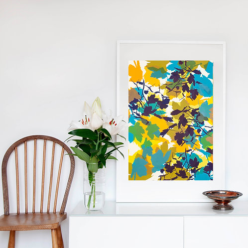10. Bright Yellow and Midnight Blue 76 x 56 cm