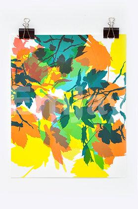 Green & Orange Leaves 3