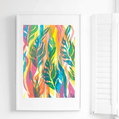 1. Flowing Leaves Screen Print