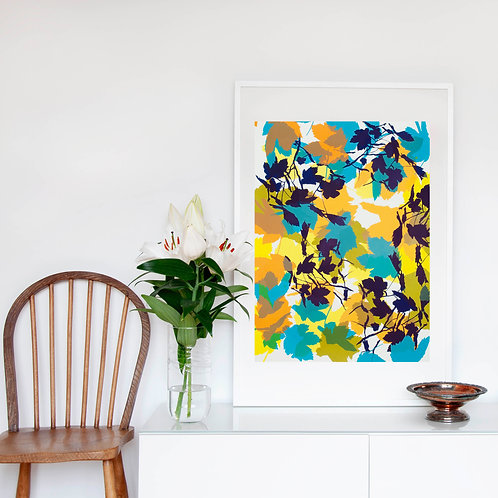 1. Bright Yellow and Midnight Blue 76 x 56 cm