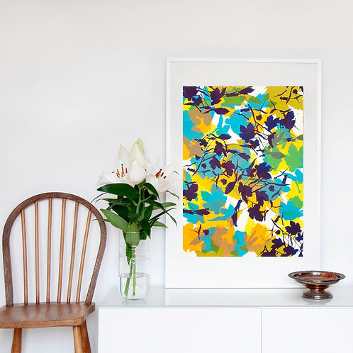 11. Bright Yellow and Midnight Blue 76 x 56 cm