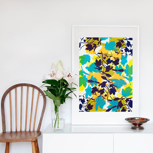 5. Bright Yellow and Midnight Blue 76 x 56 cm