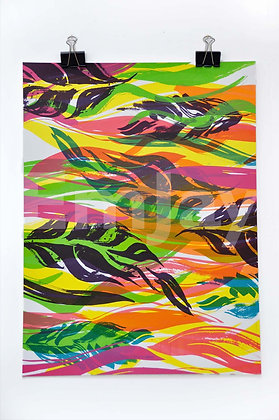 Aubergine Flowing Leaves 5