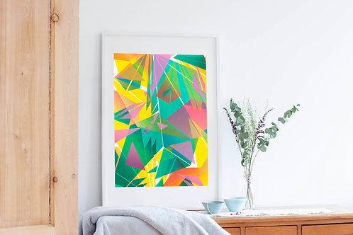 1.  Hand Pulled Geometric Mono-Print