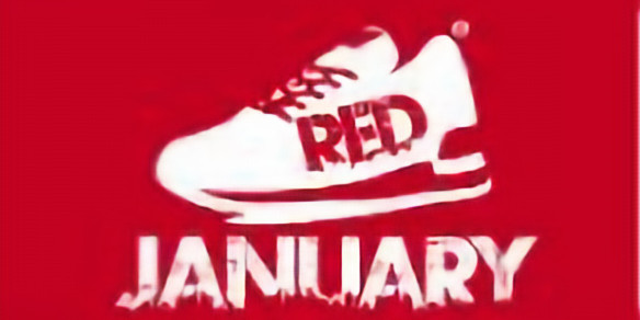 RED January  -  minimum of a one mile run every day (31 miles)