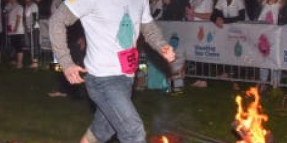 Fire Walk at Chiswick Park ( a very short distance hopefully!!)