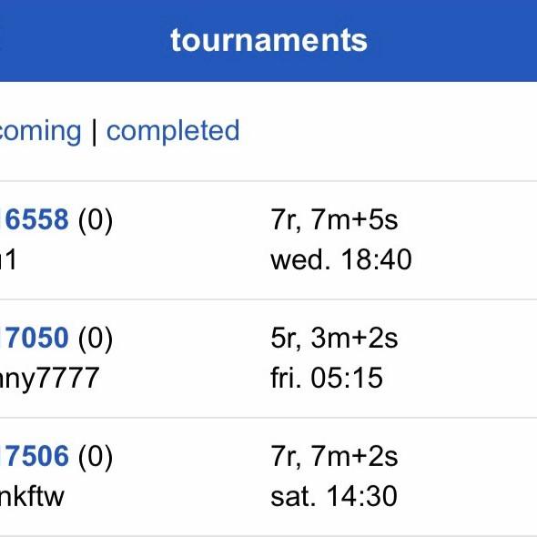 70th Online Practice Oware Tournament