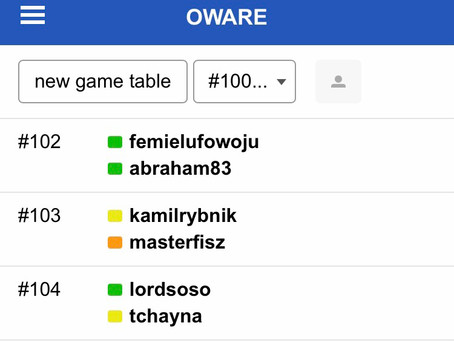 Chronicles of players on the playok platform for the week beginning 21st December 2020 15th edition