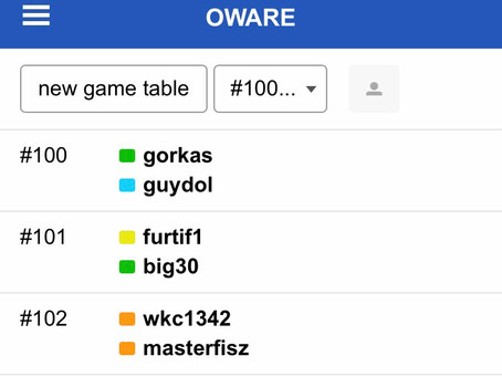 Chronicles of players on the playok platform for the week beginning 16th November 2020 10th edition