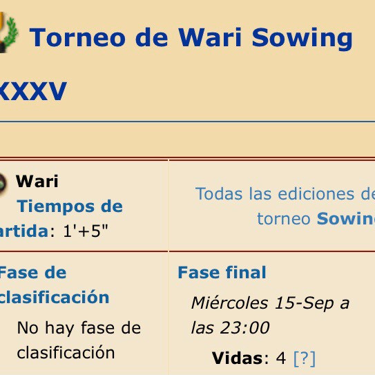 Sowing DXLI Oware Tournament