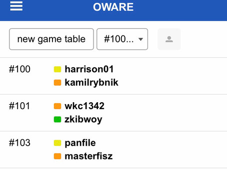 Chronicles of players on the playok platform for the week beginning 26th October 2020 7th edition