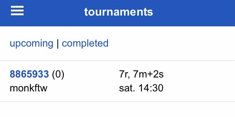 47th Online Practice Oware Tournament