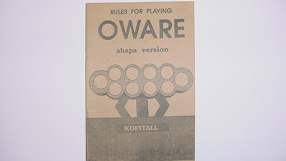 Rules For Playing Oware (Abapa Version)