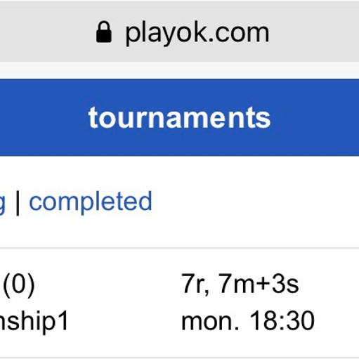 4th Practice Oware Tournament for +1500