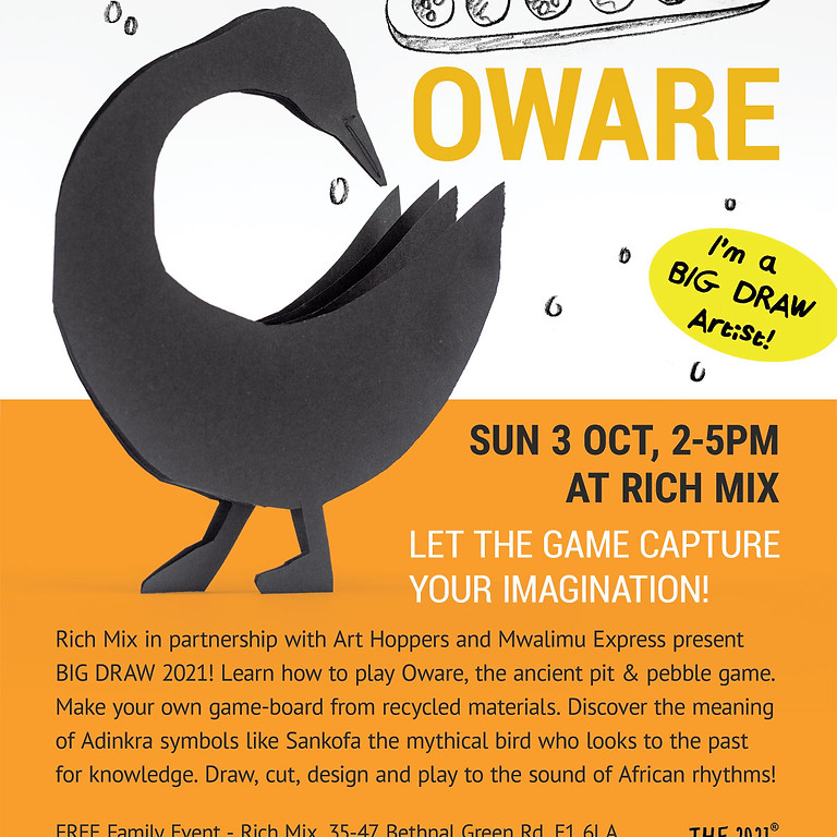The Big Draw - Draw & Play Oware at the Rich Mix