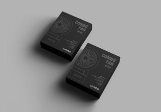 香港組合攜帶式風扇包裝設計|產品設計|彩盒設計|配色設計|家電包裝設計|3C包裝設計