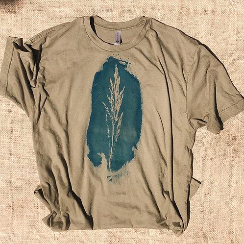 Field Straw Cyanotype T Shirt