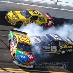 Daytona Kyle Busch spin 9492