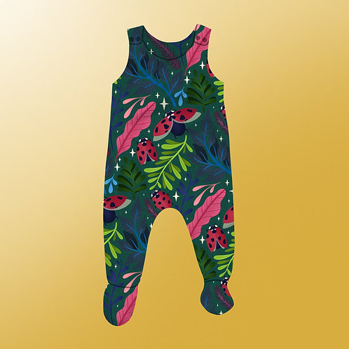 Ladybirds - Footed Romper