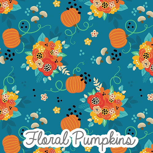 Floral Pumpkins -  Knee Length Shorts