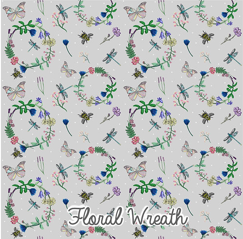 Floral Wreath - Older Children's Leggings