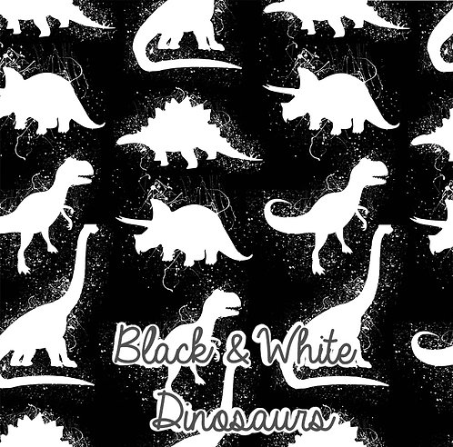 Black And White Dinosaurs  - Rompers
