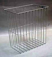 Gitterkorb, silber, Größe: 32x22x35 cm