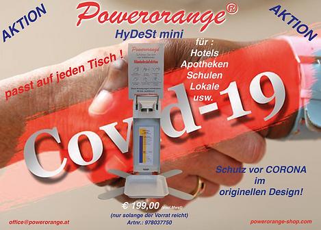 HyDeSt mini Desinfektionsspender für jeden Tisch