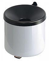 Aschenbecher Metall weiß/schwarz 0,5lt.