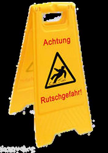 Warnschild - Achtung Rutschgefahr!