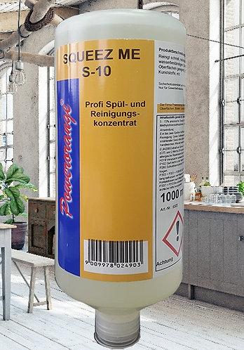 Squeez me S-10 Spülmittel Konz. 1 lt. inkl. Dosieraufsatz