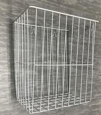 Gitterkorb, weiß, Größe: 32x22x35 cm