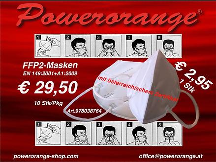 FFP2 Masken mit österreichischem Zertifikat 10 STK/Pkg.