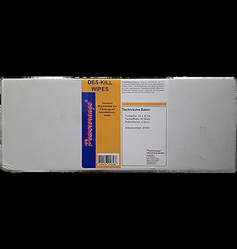 DES-KILL Wipes Wischtücher für Flächendesinfektion       6 Rollen pro Karton