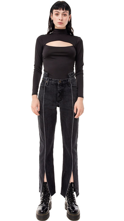 Front Slit Futuristic Jeans / Reworked