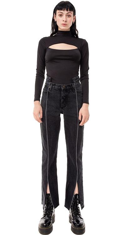 Front Slit Futuristic Jeans