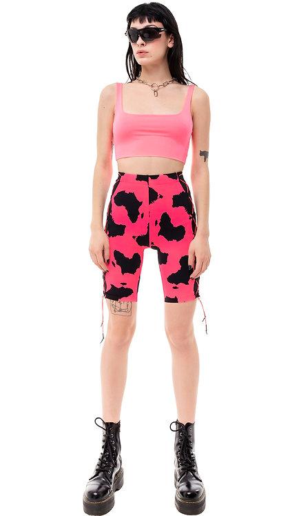 Pink High Waisted Cycling Shorts