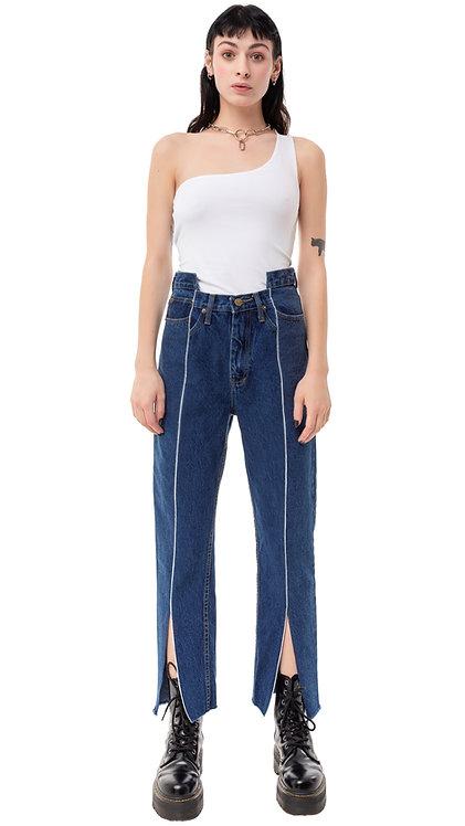 113 Front Slit Futuristic Jeans