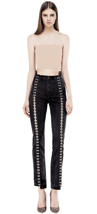 Hooks and Eyelets Black Jeans