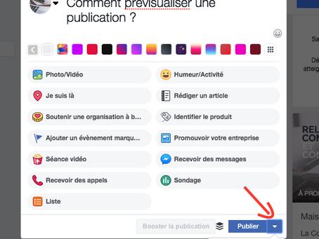 Comment prévisualiser une publication sur Facebook ?