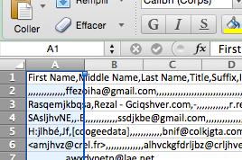 Fichier .csv : toutes mes données s'affichent dans la 1ère colonne - Comment faire ?!!