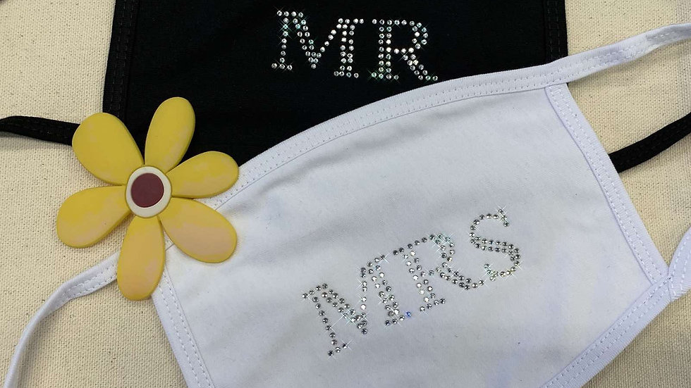 Set of 2 MR and MRS Face Mask