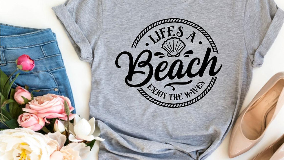 Life's a Beach Enjoy The Waves T-shirt