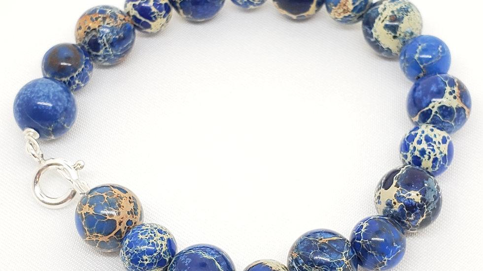 Blue Emperor Jasper Bracelet