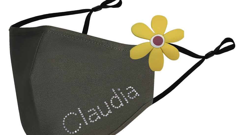 Olive Antimicrobial Name Mask