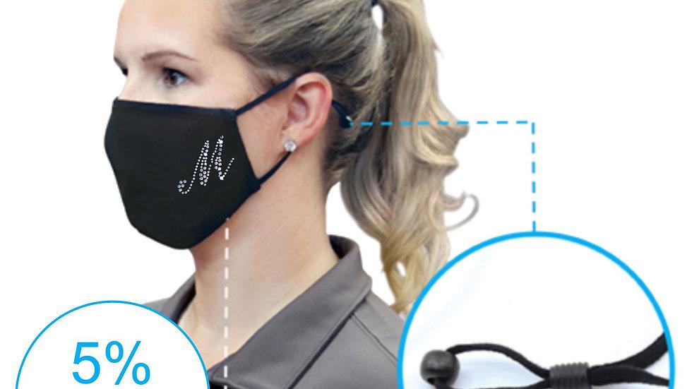 Spandex Rhinestone Face Mask